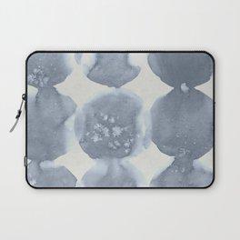 Shibori Wabi Sabi Indigo Blue on Lunar Gray Laptop Sleeve