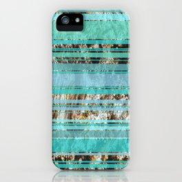 Blue & Wood iPhone Case