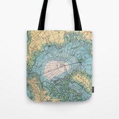 Vintage Arctic Map Tote Bag