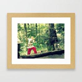 Blowgun Framed Art Print