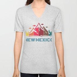 Retro New Mexico Design for Men Women and Kids Unisex V-Neck