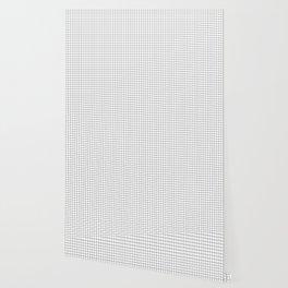 White Grid Black Line Wallpaper