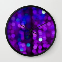 Purple Disco Wall Clock