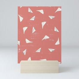 Paper Planes-Coral Mini Art Print
