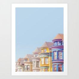 Haight Ashbury Victorian Houses - San Francisco Photography Art Print