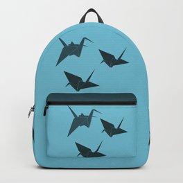 Blue origami cranes Backpack