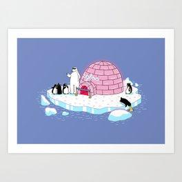 igloo disco Art Print