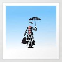 mary poppins Art Prints featuring Mary Poppins by pokegirl93