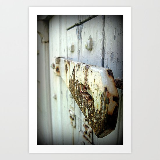 Latch (Macro) Art Print