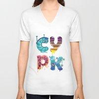 cartoon V-neck T-shirts featuring cartoon by Cheese Alien