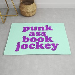 PUNK ASS BOOK JOCKEY Rug