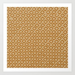 Tan/Orange Pattern Art Print