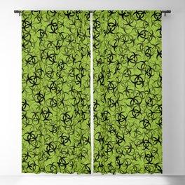 Biohazard (black on green) Blackout Curtain