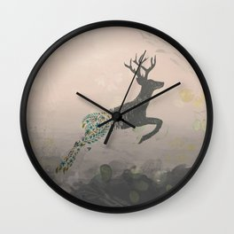 Whimsey Woodland Stag Wall Clock