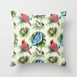 Birds and Branches Throw Pillow