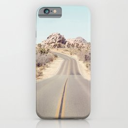 Joshua Tree Desert Road - Landscape Photography iPhone Case