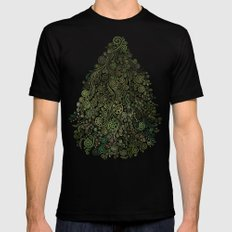 Fantasy tree Mens Fitted Tee 2X-LARGE Black