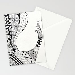 Peacock design Stationery Cards