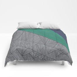 Black, Turquois, Dark Blue Comforters