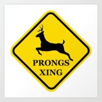 prongs xing Art Print
