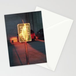 reserved parking Stationery Cards
