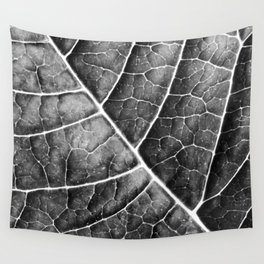 LEAF STRUCTURE no2b BLACK AND WHITE Wall Tapestry