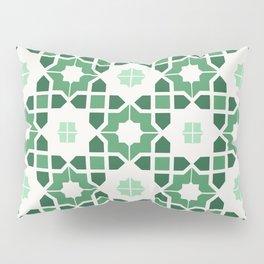 Morrocan tiles in green Pillow Sham