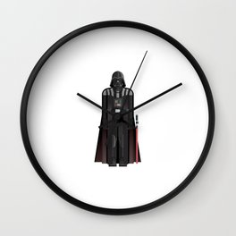 Fictional Sith Lord Character Minimal Sticker Wall Clock
