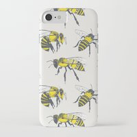 bees iPhone & iPod Cases featuring Bees by Tracie Andrews
