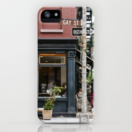 Picturesque restaurant in Greenwich Village, New York iPhone Case