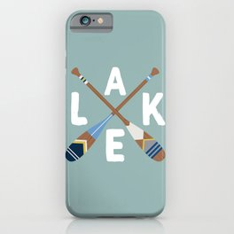 LAKE LIFE Painted Paddle Oars iPhone Case