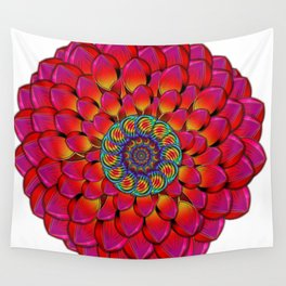 Dahlia Flower Endless Eye Abstract Wall Tapestry