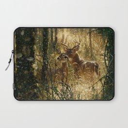 Whitetail Deer - A Golden Moment Laptop Sleeve