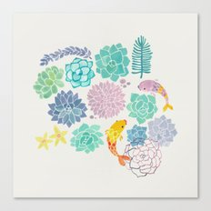 A Serene Succulent Underwater World Canvas Print