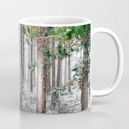 Snowy Pine trees Coffee Mug