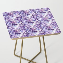 Dragonfly Lullaby in Pantone Ultraviolet Purple Side Table