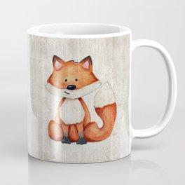 Little Fox, Baby Fox, Baby Animals, Forest Critters, Woodland Animals, Nursery Art Coffee Mug