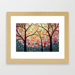 Abstract Art Original Landscape Painting ... Nights of Splendor Framed Art Print