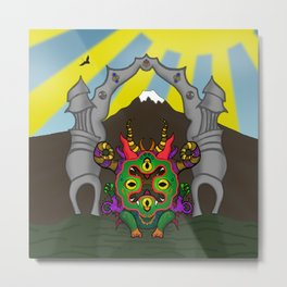 Zen Demon Metal Print