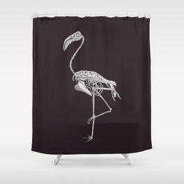 Flamingo Skeleton: Bird Halloween Animal Anatomy Shower Curtain