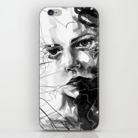 anxiety iPhone & iPod Skins featuring Anxiety by Tsukiko-Kiyomidzu
