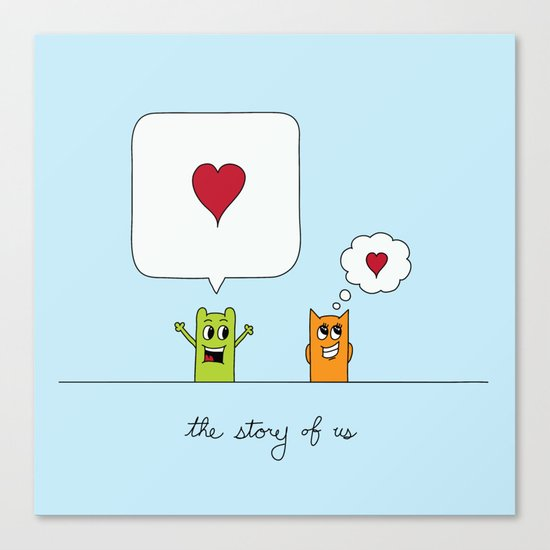 The Story Of Us Canvas Print