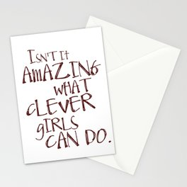 Isn't it amazing what clever girls can do - Peter Pan Stationery Cards