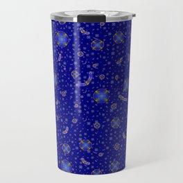 Pattern 5 Dark-Blue Raport Travel Mug