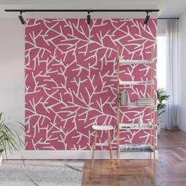 Branches - pink Wall Mural