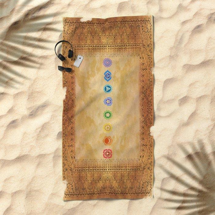 Chakras Kali | Beyond the time  Beach Towel