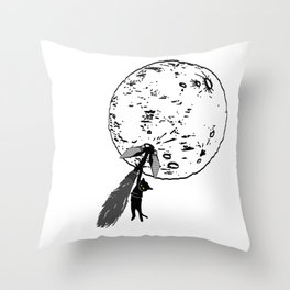 Wrong Way Witch Throw Pillow