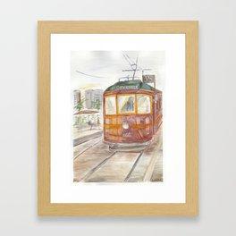 City Circle tram Framed Art Print