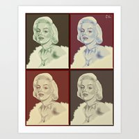 marylin monroe Art Prints featuring Marylin Monroe by Soulfullyrics Art Cilla
