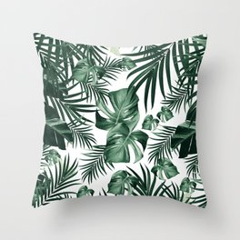 Tropical Jungle Leaves Pattern #4 (2020 Edition) #tropical #decor #art #society6 Throw Pillow